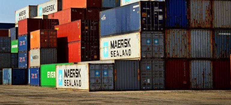 cargo-container-lot