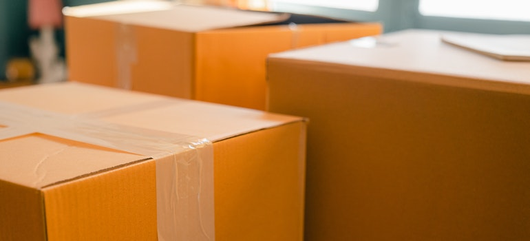 Packed carton boxes