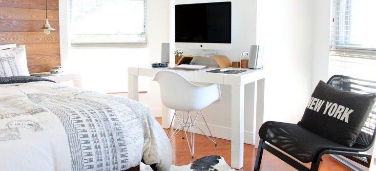 A modern bedroom.