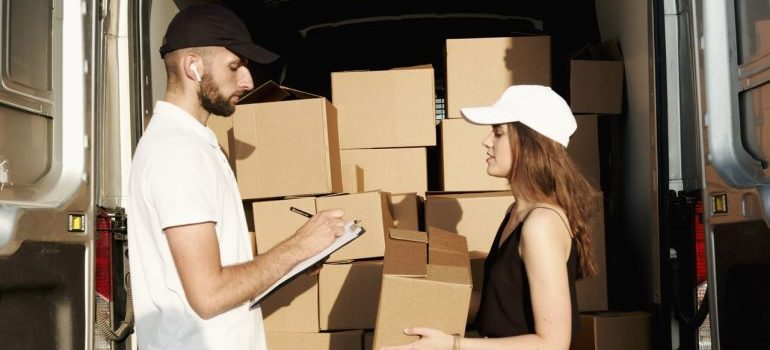 A mover and a client