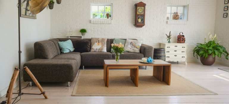 A newly renovated living room area.