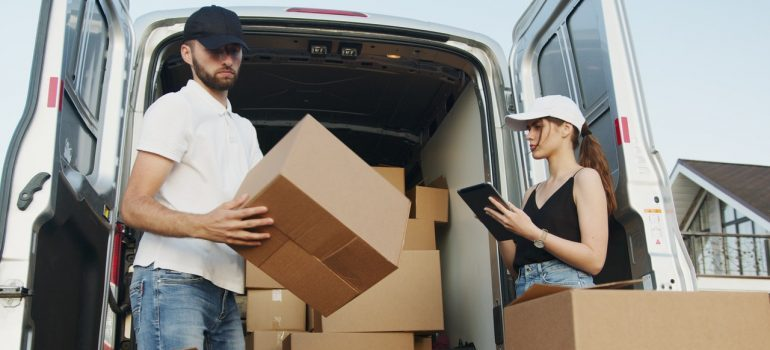 Two movers handling moving tasks.