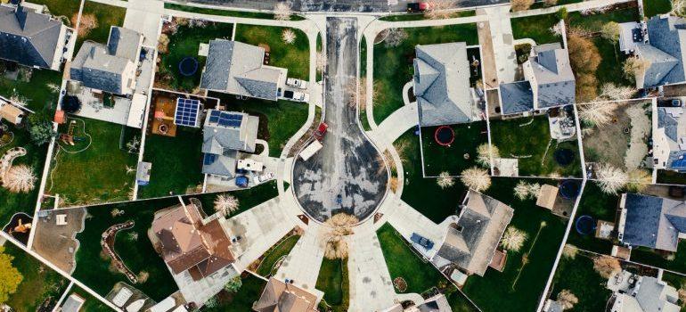 Aerial view of one nice neighborhood.