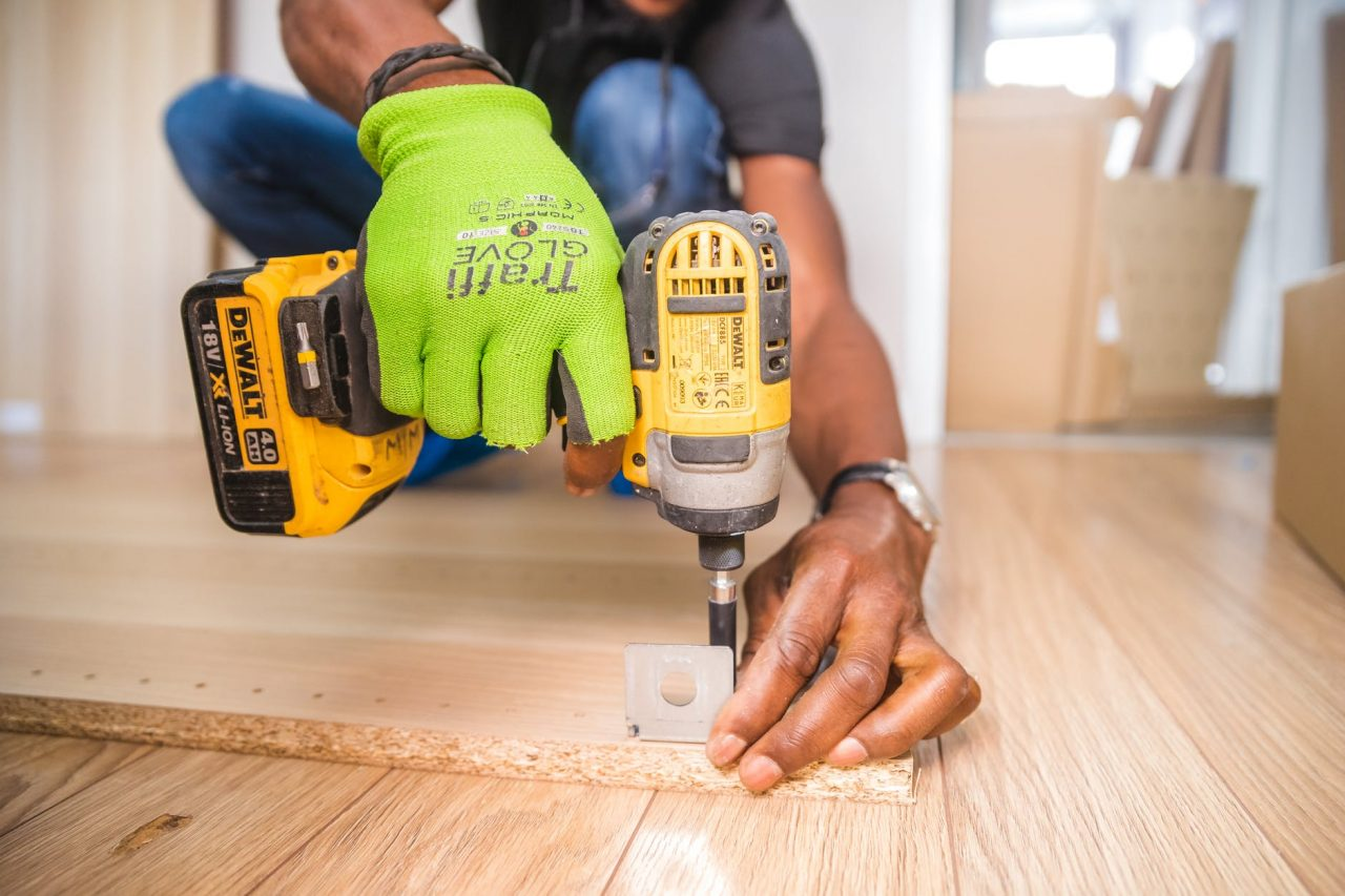 man with a power tool
