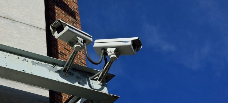 cameras on secured facility
